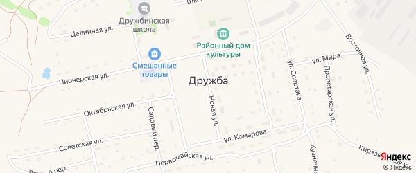 Улица Мира на карте села Дружбы с номерами домов