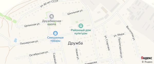 Новая улица на карте села Дружбы с номерами домов
