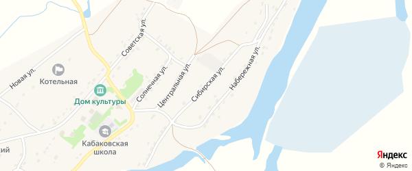 Сибирская улица на карте села Кабаково с номерами домов