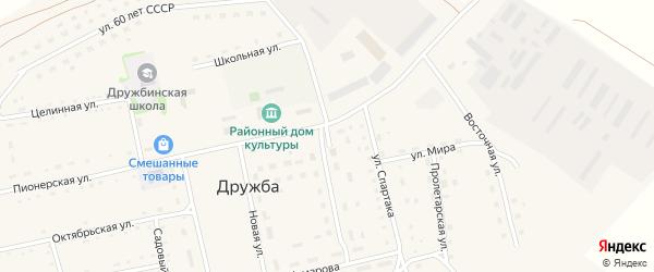 Торговый переулок на карте села Дружбы с номерами домов