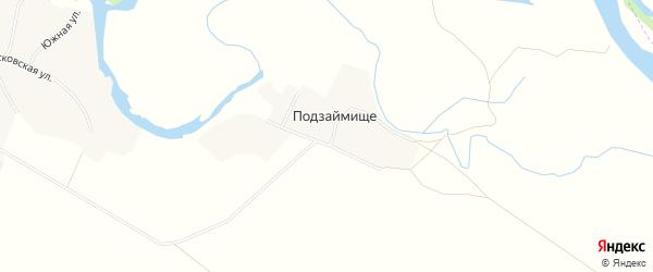 Карта поселка Подзаймища в Алтайском крае с улицами и номерами домов