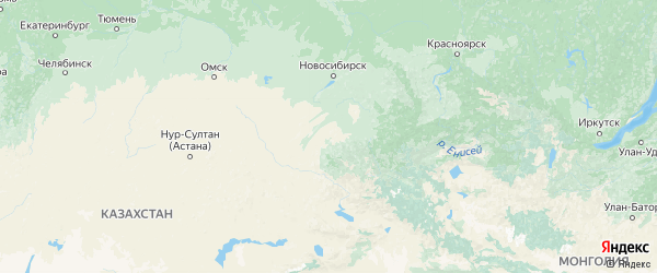 Карта Алтайского края с городами и районами