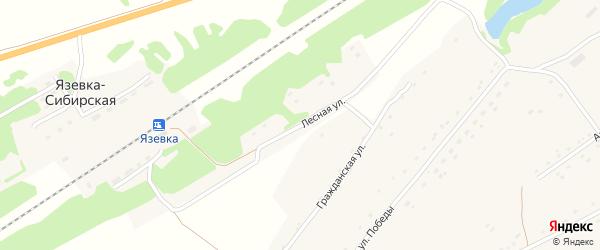 Лесная улица на карте Язевки-Сибирской станции с номерами домов