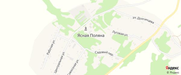 Садовый переулок на карте поселка Ясной Поляны с номерами домов