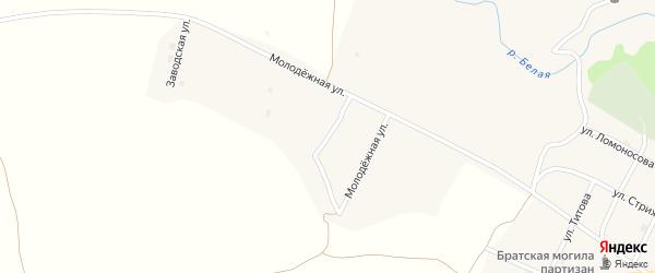 Молодежная улица на карте села Колывани с номерами домов