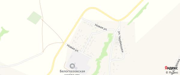 Новая улица на карте села Белоглазово с номерами домов