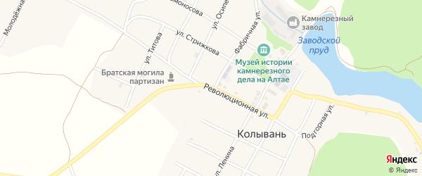 Революционная улица на карте села Колывани с номерами домов