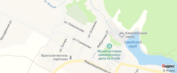 Улица Осипенко на карте села Колывани с номерами домов