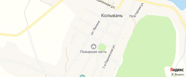 Ключевской переулок на карте села Колывани с номерами домов