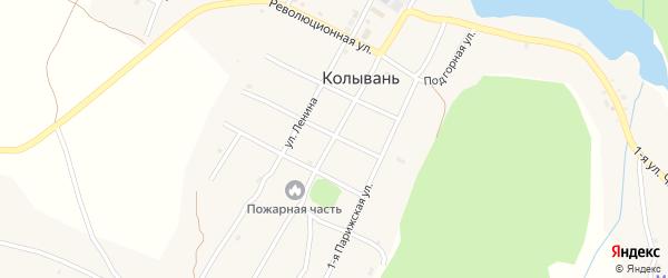 Улица Карла Маркса на карте села Колывани с номерами домов