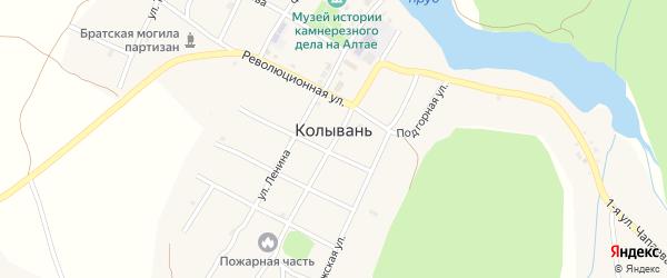 Ревнёвская улица на карте села Колывани с номерами домов