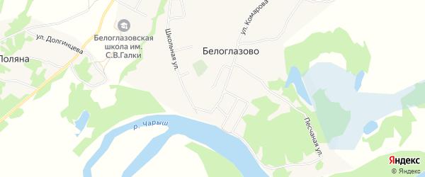 Карта села Белоглазово в Алтайском крае с улицами и номерами домов