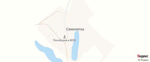 Западная улица на карте поселка Семилетки с номерами домов