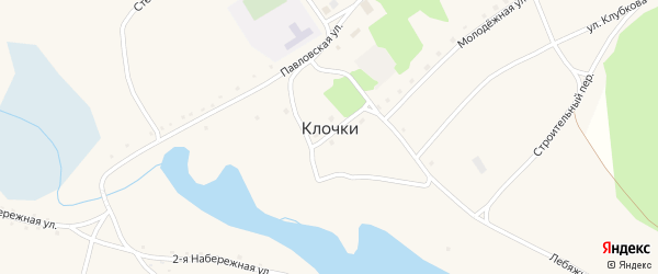 Лебяженская улица на карте села Клочки с номерами домов
