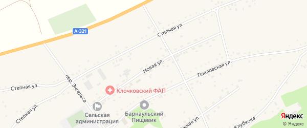 Новая улица на карте села Клочки с номерами домов