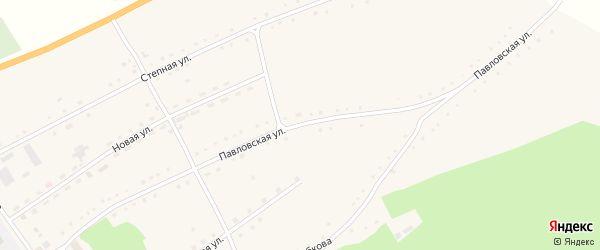 Павловская улица на карте села Клочки с номерами домов