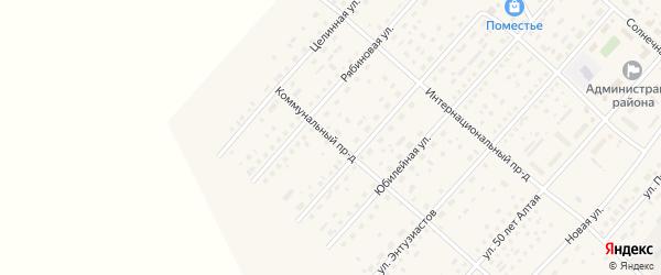 Коммунальный проезд на карте села Шелаболихи с номерами домов
