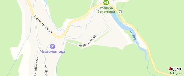 Улица 2-я Чапаева на карте села Колывани с номерами домов