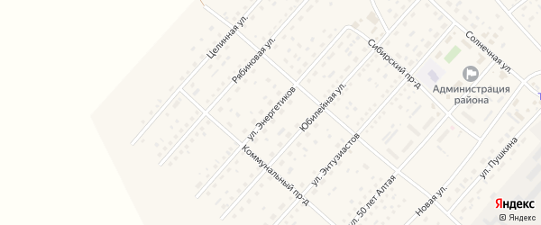 Улица Энергетиков на карте села Шелаболихи с номерами домов