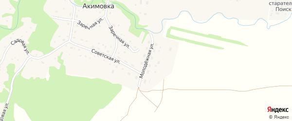 Молодежная улица на карте села Акимовки с номерами домов
