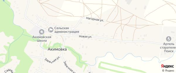 Новая улица на карте села Акимовки с номерами домов