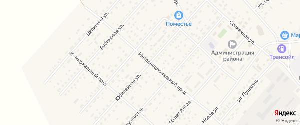 Юбилейная улица на карте села Шелаболихи с номерами домов