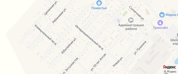 Интернациональный проезд на карте села Шелаболихи с номерами домов