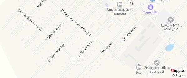 50 лет Алтая улица на карте села Шелаболихи с номерами домов