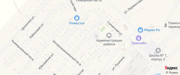 Сибирский проезд на карте села Шелаболихи с номерами домов