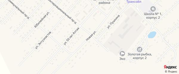 Новая улица на карте села Шелаболихи с номерами домов
