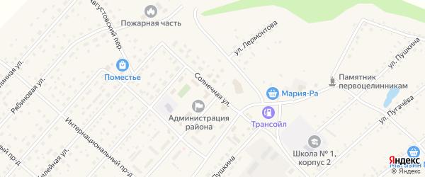 Солнечная улица на карте села Шелаболихи с номерами домов