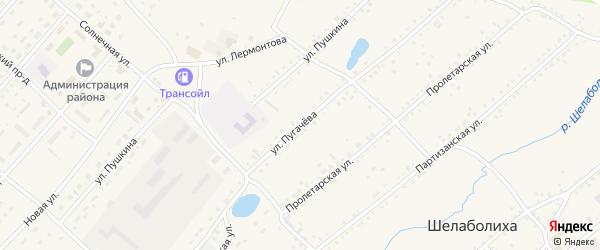 Улица Пугачева на карте села Шелаболихи с номерами домов