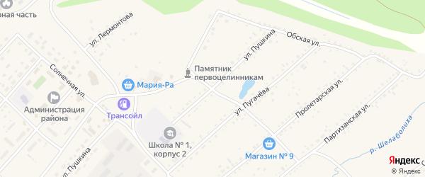 Улица Пушкина на карте села Шелаболихи с номерами домов