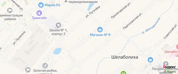 Пролетарская улица на карте села Шелаболихи с номерами домов