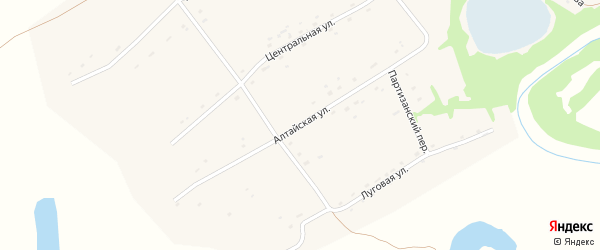Алтайская улица на карте села Красного Яра с номерами домов