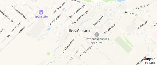 Карта села Шелаболихи в Алтайском крае с улицами и номерами домов