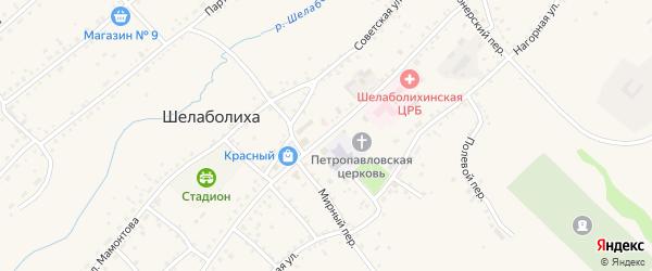 Улица Ленина на карте села Шелаболихи с номерами домов