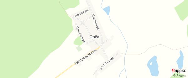 Карта поселка Орла в Алтайском крае с улицами и номерами домов