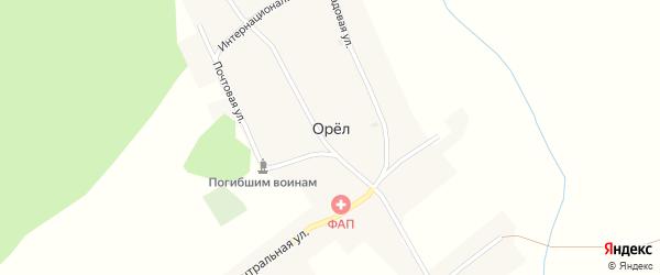 Центральная улица на карте поселка Орла с номерами домов