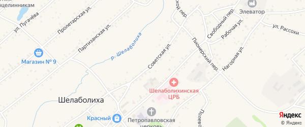 Советская улица на карте села Шелаболихи с номерами домов