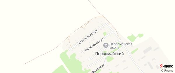 Пролетарская улица на карте Первомайского поселка с номерами домов