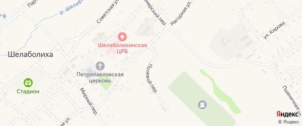 Полевой переулок на карте села Шелаболихи с номерами домов