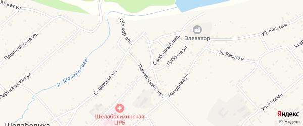 Красноармейский переулок на карте села Шелаболихи с номерами домов