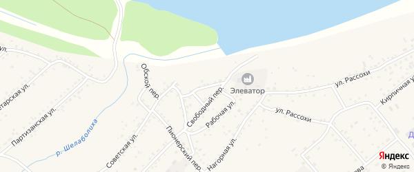 Переулок Гудок на карте села Шелаболихи с номерами домов