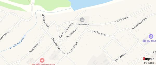Мельничный переулок на карте села Шелаболихи с номерами домов