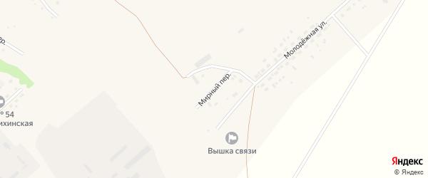 Мирный переулок на карте села Шелаболихи с номерами домов