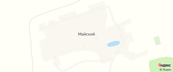 Восточная улица на карте Майского поселка с номерами домов