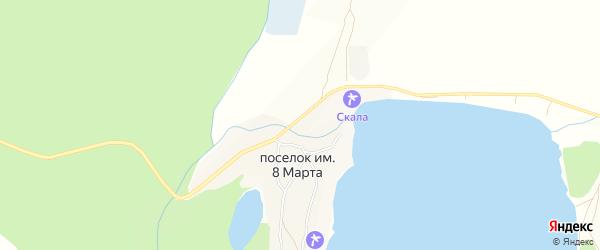 Карта поселка им 8 Марты в Алтайском крае с улицами и номерами домов
