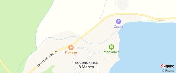 Молодёжная улица на карте поселка им 8 Марты с номерами домов