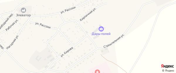 Кирпичная улица на карте села Шелаболихи с номерами домов